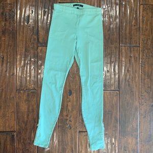 Joe's Jeans Legging Light Green Ankle Zipper Pants